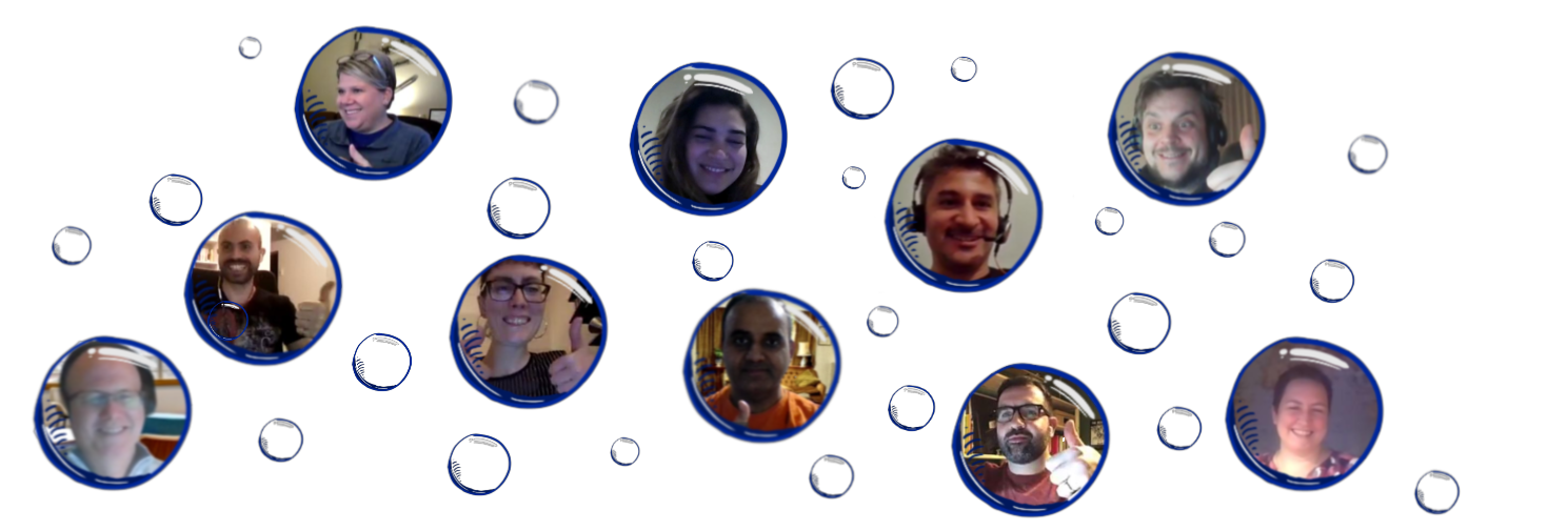 Just a small selection of Happy Scrum Lake participants from previous workshops - Gregory, Ovidiu, Jamie, Marion, Kapil, Richard, Gianni, Tom and Katrin