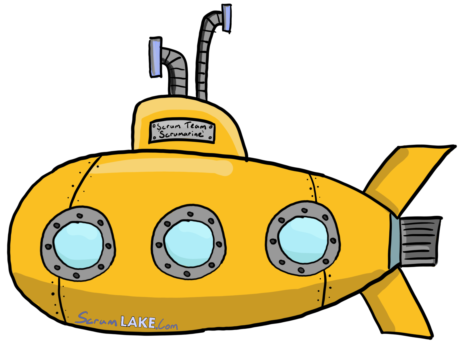 A Scrum Team is like a submarine